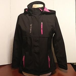 Reebok Black and Pink Jacket Large